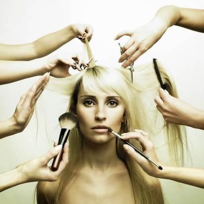 maquiagem e cabelo